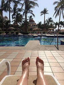 Sakin ol, ayak parmakları, Havuzu, ayak, gevşeme, Terapi, refah