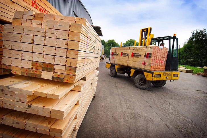 puidu, lehed, tööstus, puit, pinu, Ehitus, ehitada