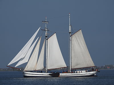 nave, barca a vela, barca, mare, vela, acqua, barca a vela