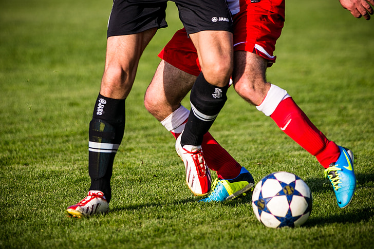 football, clip, football boots, soccer, duel, opponents, footballers