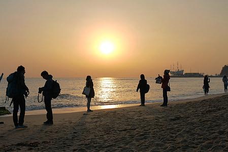 saulėtekio, Jung dong-jin, jūra, vyras, friends, nuotrauka, Gangneung