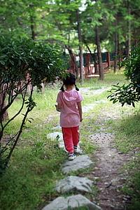 infantil, senders, Parc, natura, a peu