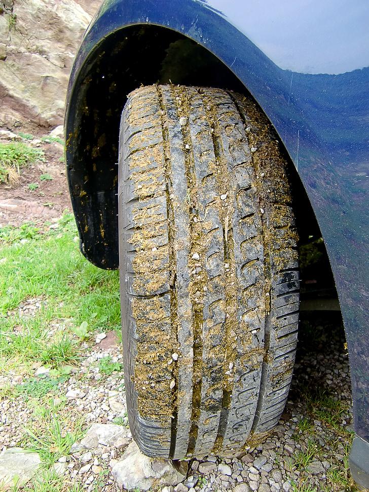 auto pneumatiky, profil, auto, staršie, gumové, Zrelý vek, koleso