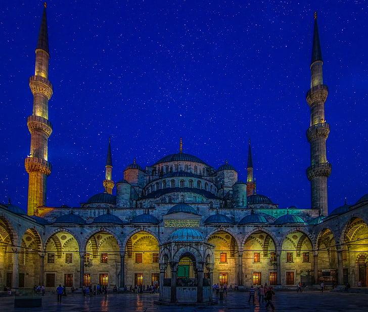 Sinine mošee, Türgi, Istanbul, mošee, religioon, valgus, öö