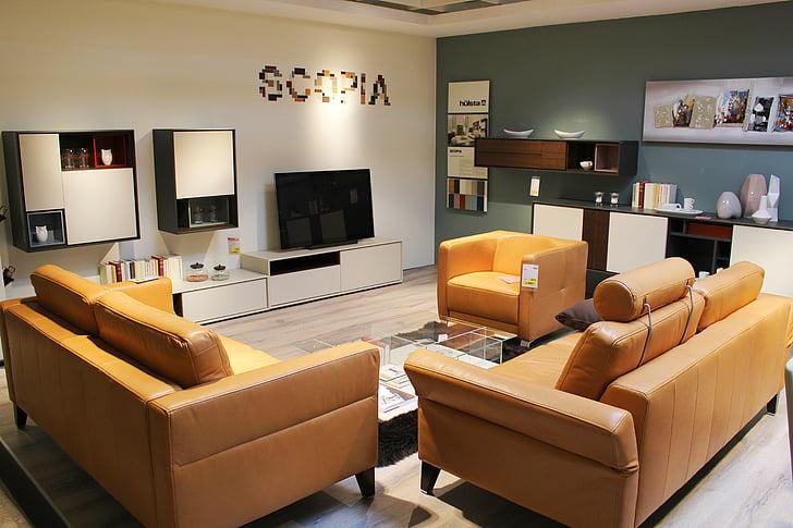 iekārtas, dzīvot, apdare, dīvāns, televizoru, mēbeles, mūsdienu