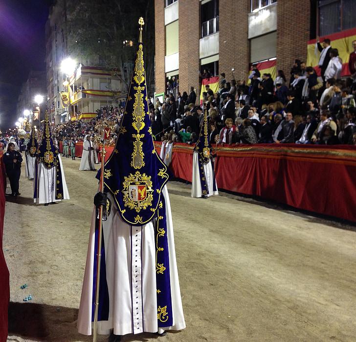 Espanya, Lorca, processó, Setmana Santa, Penitents