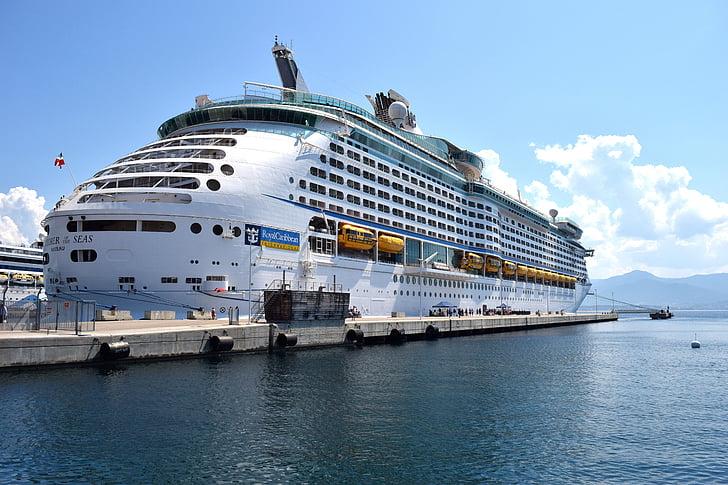 kryssning, kryssningsfartyg, Holiday, havet, hamn, Frakt, Medelhavet