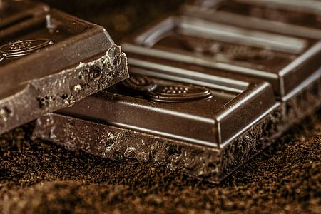 chocolate, dark, coffee, confiserie, dark chocolate, chocolatier, coffee powder
