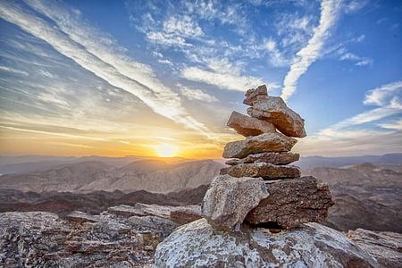 posta de sol, Puig, part superior, paisatge, muntanya, viatges, nit