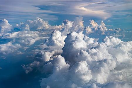 เมฆ, ท้องฟ้า, ท้องฟ้าเมฆ, สีฟ้า, ท้องฟ้าสีฟ้าเมฆ, ธรรมชาติ, สภาพอากาศ
