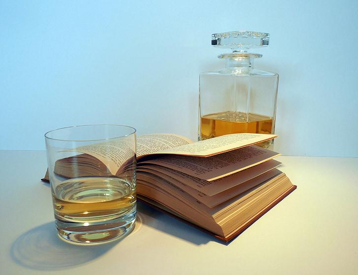 alkohol, viski, viski, bokal, boca, staklo, rakija