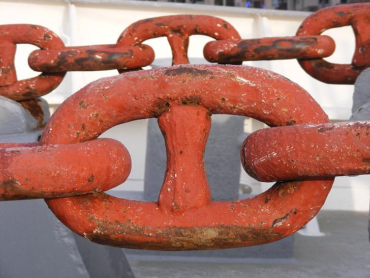 chaîne d'ancre, marine marchande, maillon de chaîne, Casquette san diego, Hambourg