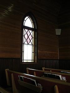marró, fusta, l'església, Pew, vidre, ulleres, l'interior