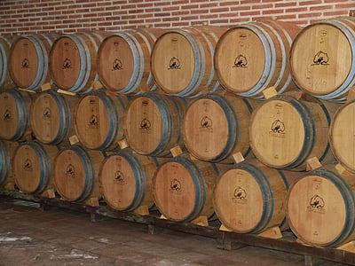 vin, Cave, tonneaux de vin, conservation du vin, baril, tonneaux en bois, Keller