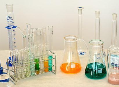 laboratorio, chimica, prodotto chimico, composti, esperimento, vetro, scienza