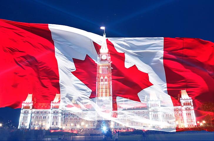Canada day, flag, canadiske, symbol, Glad, juli, Canada