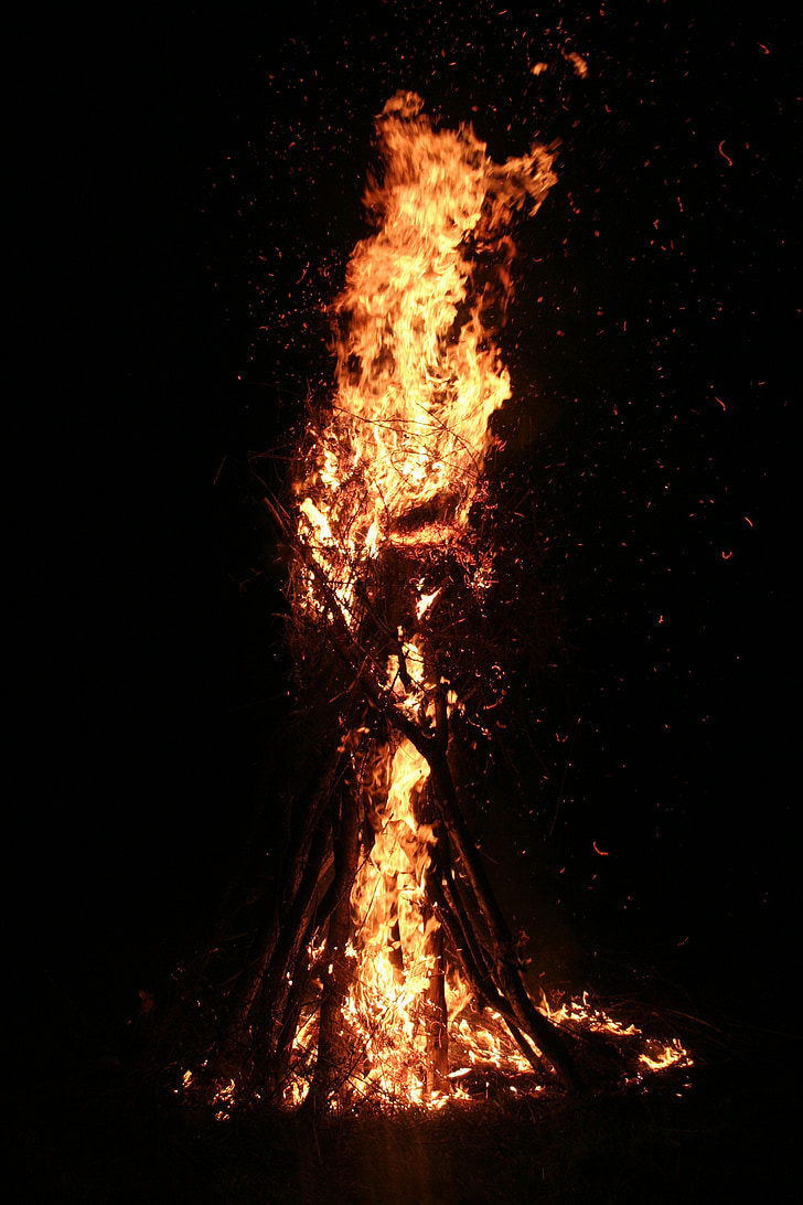 foc, llum, flama, a la nit, marca, örtűz