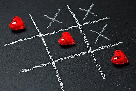 board, chalk, chalkboard, conceptual, cross, game, handmade