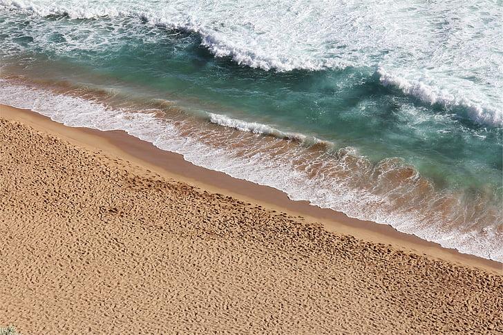 plage, sable, eau, contre les surtensions, Surf, brise-lames, vagues