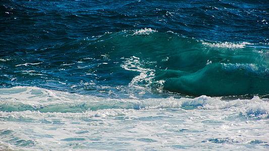 ona, Mar, riba, energia, poder, ruptura, marí