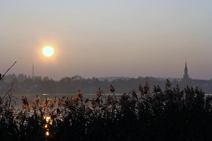 НД, вечір, Сутінки, Захід сонця, небо, післясвічення, вечірнє небо