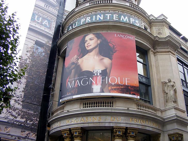 áp phích, người phụ nữ, quảng cáo, mùa hè, Paris, Mô hình