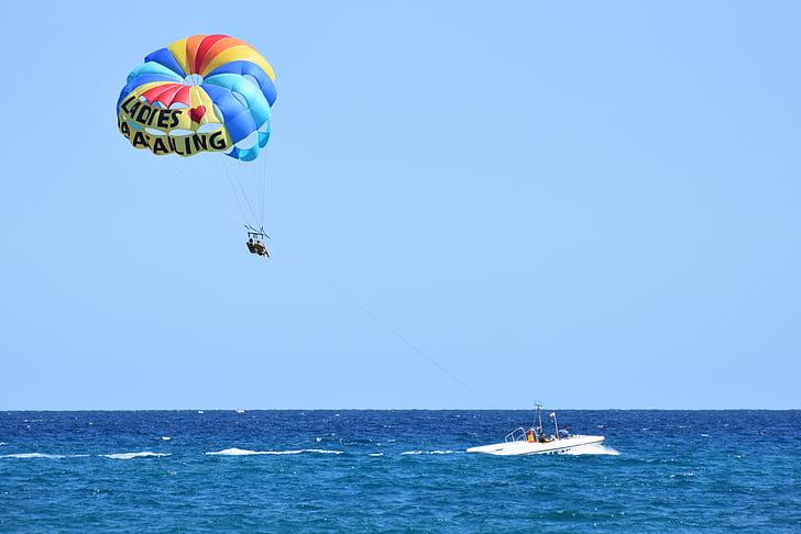 parapent, esports, Mar, oceà, acció, horitzó, paracaigudes