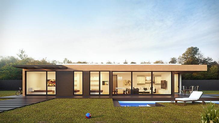 Architektúra, budova, oblaky, denné svetlo, dizajn, dvere, Exteriér