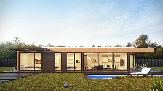 architecture, building, clouds, daylight, design, door, exterior