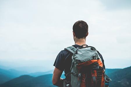tramp, batůžkáře, Turismus, cestování, chůze, pěší turistika, muž