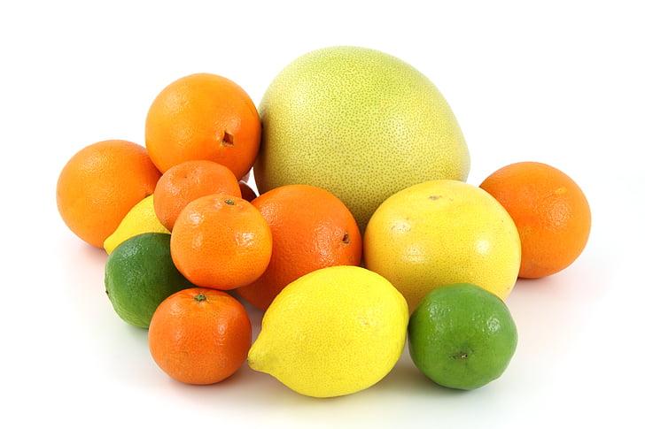 fruit, voedsel, Citrus, Pomelo, grapefruit, Oranje, citroen