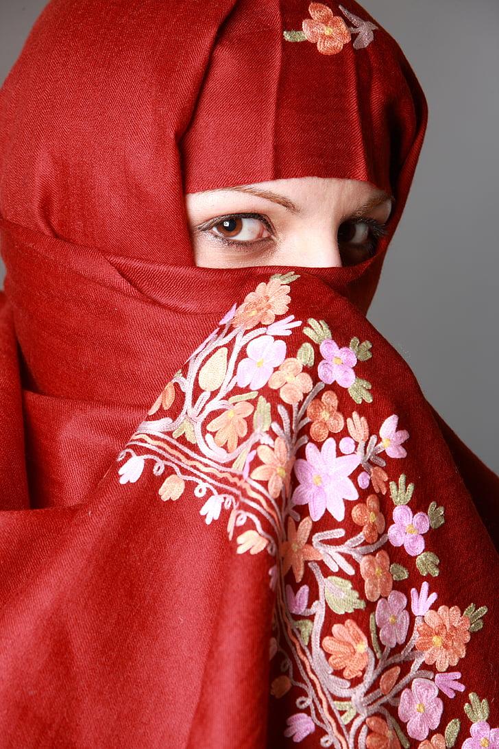 muslima, muslim woman, eyes, fashion, traditional, clothing, culture