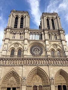 l'església, emblemàtic, França, punt de referència, Notre-dame, Notre-dame de paris, París