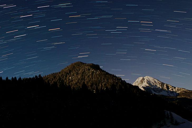 startrails, Star, stien, star stier, Star trail, astronomi, timpanogos
