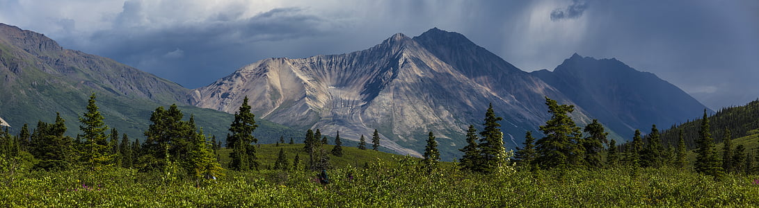 landscape, scenic, porphyry mountain, national creek rock glacier, scenery, rugged, donoho basin