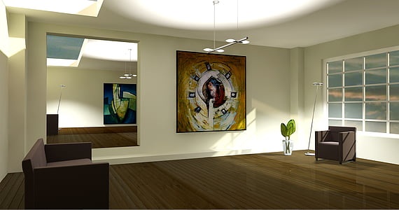 entitat, lichtraum, exposició, galeria, sala d'estar, Apartament, gràfic