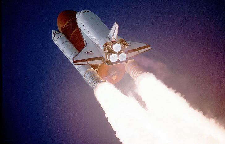 transbordador espacial, Lift-off, l'enlairament, NASA, aeroespacial, l'espai exterior, força de gravetat