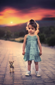 child, girl, little, portrait, young