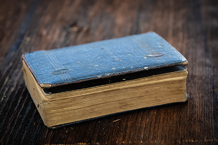 book, old book, old, antique, used, worn, wood