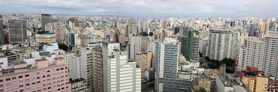 São paulo, arquitectura, visió de conjunt, edificis, arquitectura contemporània, Brasil, Centre