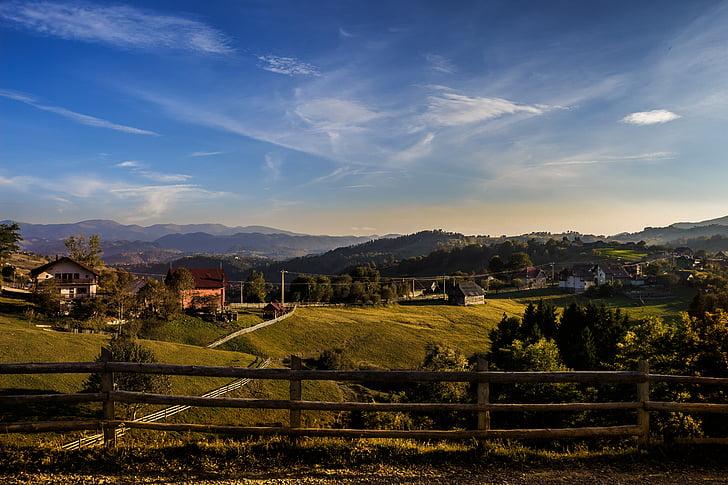 landscape, magura, village