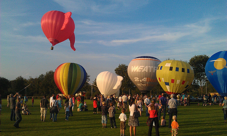 Horkovzdušný balón, bublina, barevné, začátek, zahájení fáze, Odjeď, Festival