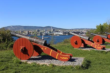 Oslofjorden, Oslo, Norge, sommar, Scandinavia, hovedoya, ön