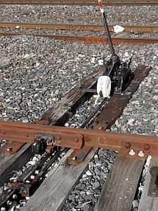 nålen exchange, via, tåg, järnväg, sliprar