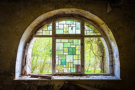 Arc de mig punt, finestra, vell, arquitectura, Històricament, edifici, arc