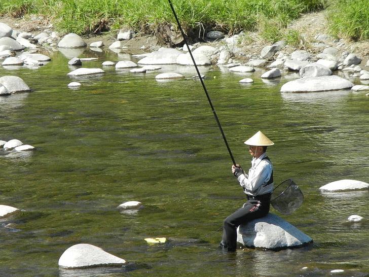 Japonský rybár, Rybolov, riečny rybolov, Japonsko, rybár, japončina