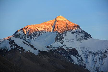 tibet, mount everest, trekking, hiking, mountains, mountain, snow