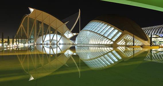 arquitectura, Santiago calatrava, reflexión, agua, estanque, ciudad, Turismo