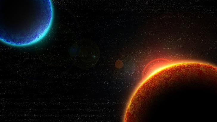 plads, planeter, stjerner