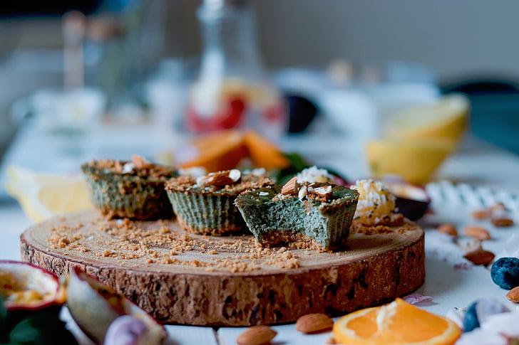 styl życia, jedzenie, deser, słodycze, owoce, pomarańcze, płatki
